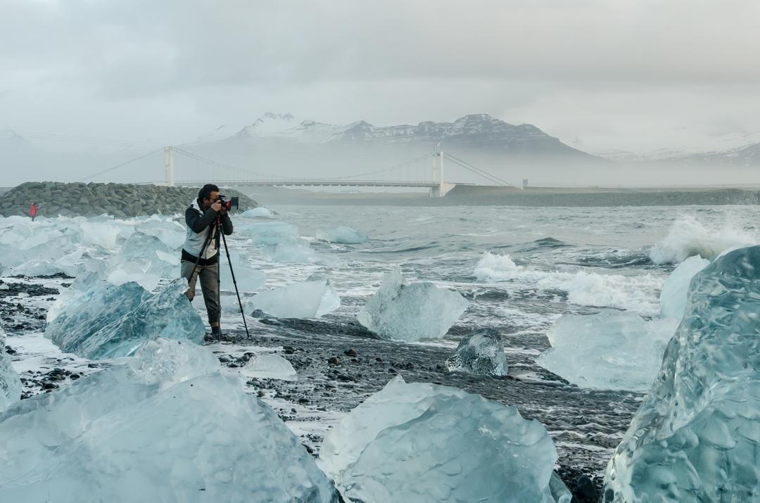 Błękitne lodowce na Islandii