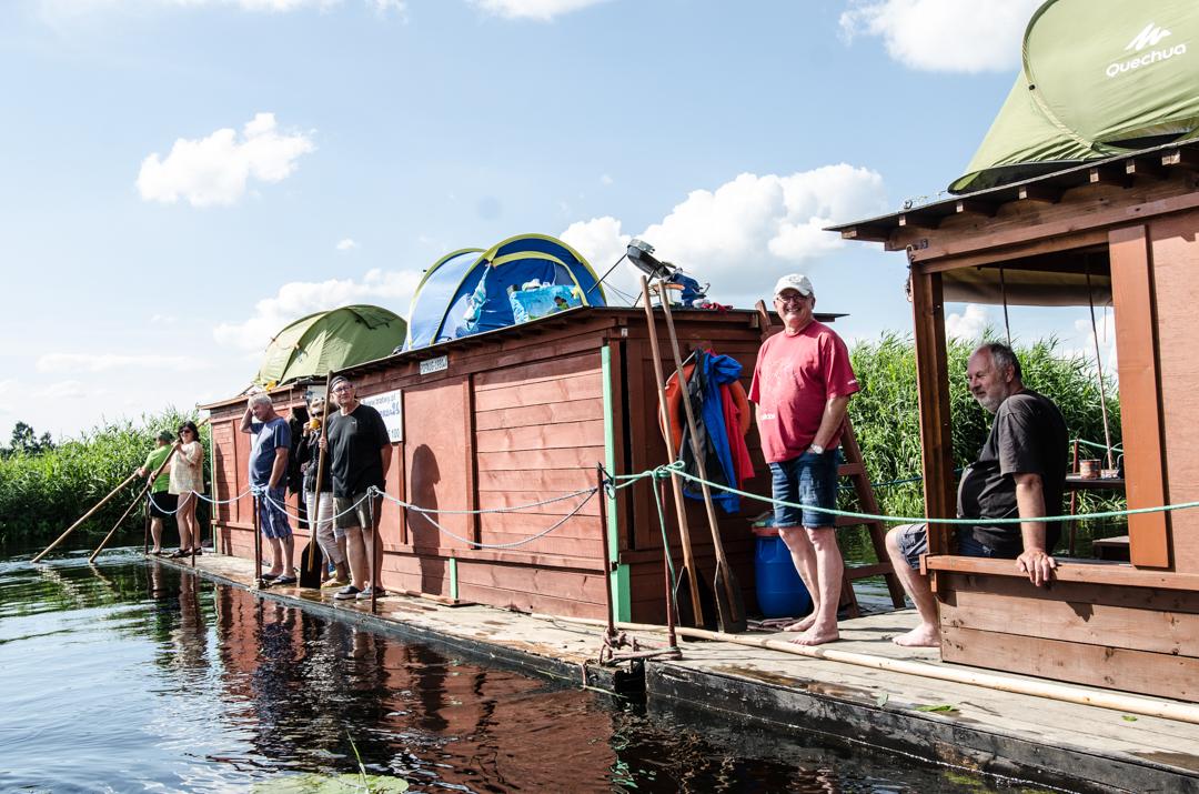 Weekend nad Biebrzą - spływ tratwą (3)
