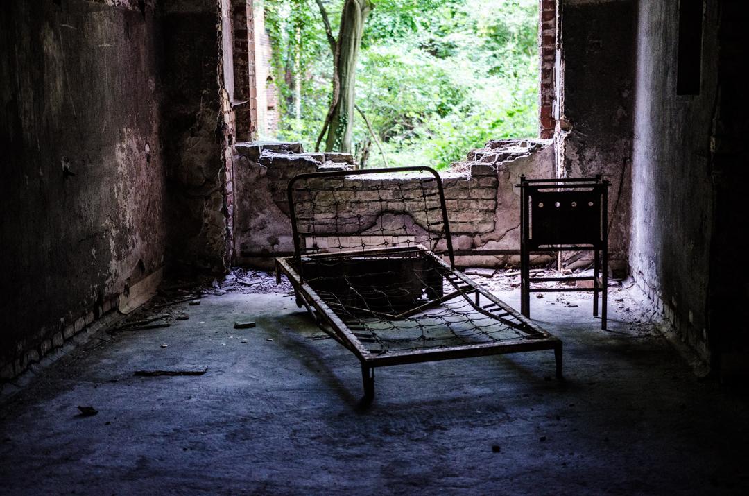 Opuszczony szpital dla chorych na gruźlicę w Beelitz (13)