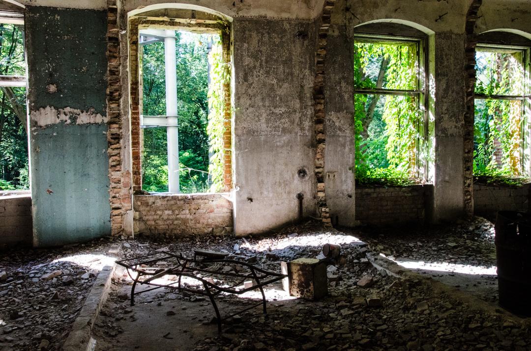 Opuszczony szpital dla chorych na gruźlicę w Beelitz (20)