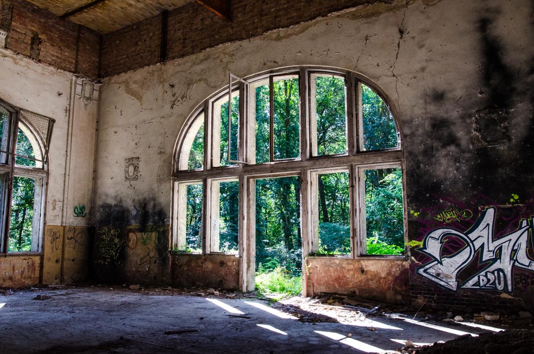 Opuszczony szpital dla chorych na gruźlicę w Beelitz (25)