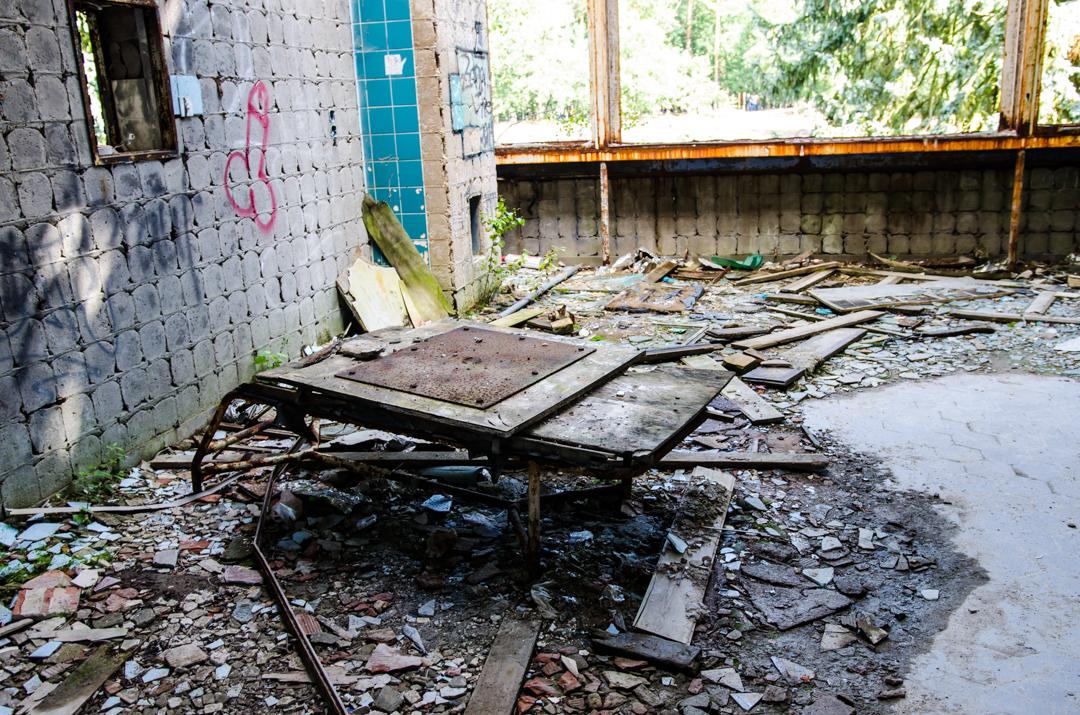 Opuszczony szpital dla chorych na gruźlicę w Beelitz (48)