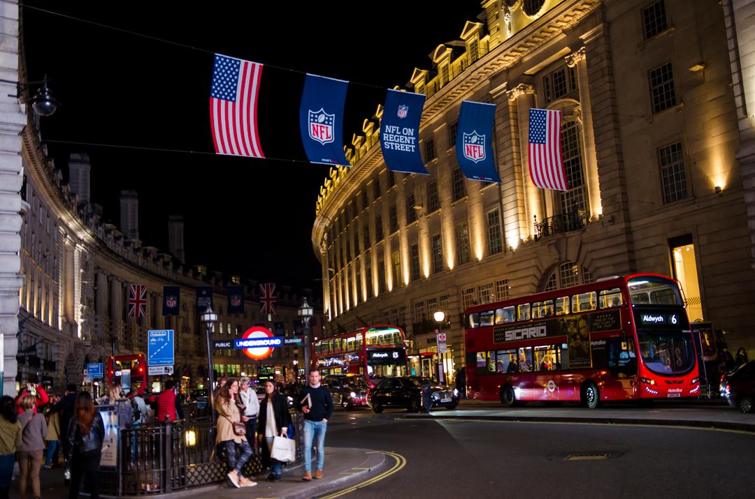 Londyn po zmroku